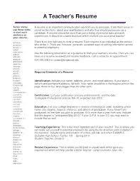 Preschool Teacher Resume Great Examples Objective Substitute