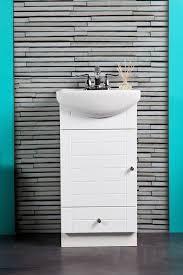 18 Deep Bathroom Vanity Set by Small Bathroom Vanity Cabinet And Sink White Pe1612w New Petite