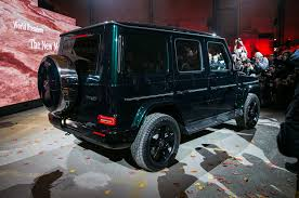 The All-New 2019 Mercedes-Benz G550 Debuts In Detroit, Cuts Down On ... Mercedesbenz Limited Edition Gclass 2018 Mercedes The Ultimate Buyers Guide Brabus Style G900 One Of 10 Carbon Hood G65 W463 Black G Class Goes Through Brabus Customization Caridcom Random Inspiration 288 Lgmsports Enclosed Auto Transportexotic 2019 Gclass Driven Less Crazy Still Outrageous Wikipedia Prior Design 55 Amg Chelsea Truck Co 16 March 2017 Autogespot Price Trims Options Specs Photos