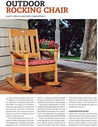 Outdoor Rocking Chair Plans • WoodArchivist