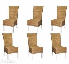 6er set rattanstuhl christin natur stuhl stühle esszimmer