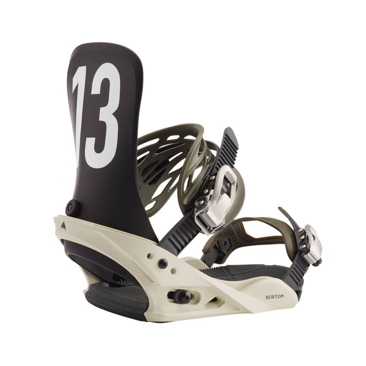 Snowboard Binding Burton Mission Off White Black