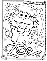 Printable Sesame Street Zoe Coloring Pages For Kids