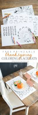 Perfect For The Kids Table Free Printable Thanksgiving Coloring Placemats By Ella Claire