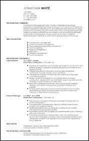 Free Professional Construction Resume Templates
