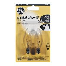 ge clear decorative 40 watt b candelabra base blunt tip