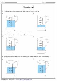 100 milliliters to liters capacity worksheets