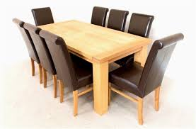 Solid Wood Table and Chairs Contemporary Impressive Dining Room