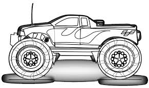 Mud Truck Coloring Pages Best Monster Truck Coloring Pages Vector ...