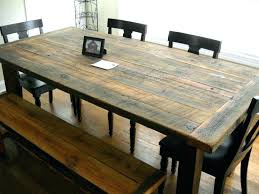 Rustic Modern Dining Table The Most Kitchen And Chairs Room Long