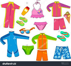Kids swimsuit clipart collection