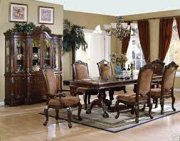 Fancy Living Room Sets Dining Elegant Set With Hutch Furniture Silver Iron Within