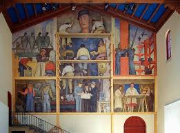 Coit Tower Murals Diego Rivera by Ross U0027 Columns California