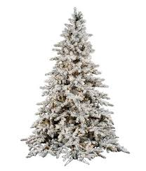 Best Flocked And Pre Lit Vickerman Artificial Christmas Trees