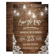 Amazing Rustic Wedding Invitations Templates For Mason Jars And Lights Invitation Template