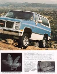 Car Brochures - 1986 Chevrolet And GMC Truck Brochures / 1986 GMC ... 67 72 Gmc Jimmy 4wd Nostalgic Commercial Ads Pinterest Gm 1976 High Sierra Live Learn Laugh At Yourself Gmc Truck 1995 Favorite Image 5 Autostrach 1985 Transmission Swap Bm 700r4 Truckin 1955 100 The Rat Hot Rod Network Car Brochures 1983 Chevrolet And 1999 Lifted 4x4 Solid Axle Offroad Crawler Trail Mud 1991 Sle Id 12877 Jimmy Bos0007a Aa Cater 1969 K5 Blazer Jacked Up Youtube 1987 Overview Cargurus