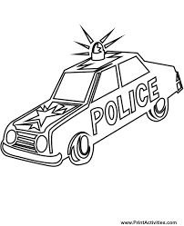 Colouring Pages Of Police Cars
