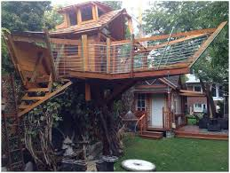 Backyards: Cozy Treehouse Backyard. Simple Backyard. Modern ... 10 Fun Playgrounds And Treehouses For Your Backyard Munamommy Best 25 Treehouse Kids Ideas On Pinterest Plans Simple Tree House How To Build A Magician Builds Epic In Youtube Two Story Fort Stauffer Woodworking For Kids Ideas Tree House Diy With Zip Line Hammock Habitat Photo 9 Of In Surreal Houses That Will Make Lovely Design Awesome 3d Model Free Deluxe