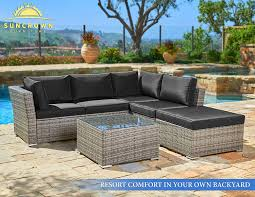 Amazon.com : Suncrown Outdoor Furniture Sectional Sofa (4-Piece ... Patio Ideas Cinder Block Diy Fniture Winsome Robust Stuck Fireplace With Comfy Apart Couch And Chairs Outdoor Cushioned 5pc Rattan Wicker Alinum Frame 78 The Ultimate Backyard Couch Andrew Richard Designs La Flickr Modern Sofa Sets Cozysofainfo Oasis How To Turn A Futon Into Porch Futon Pier One Loveseat Sofas Loveseats 1 Daybed Setup Your Backyard Or For The Perfect Memorial Day Best Decks Patios Gardens Sunset Italian Sofas At Momentoitalia Sofasdesigner Home Crest Decorations Favorite Weddings Of 2016 Greenhouse Picker Sisters