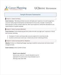 9 Career Summary Examples