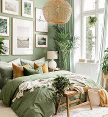 grüne natur bilderwand poster schlafzimmer grün eichenrahmen