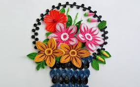 Paper Quilling Art How To Make Beautiful Flower Basket