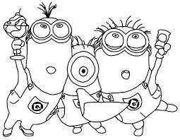 Awesome Coloring Free Minion Pages In