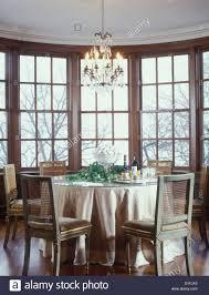 Furniture Dining Round Bay Window Seat Part Kitchen Table Ideas