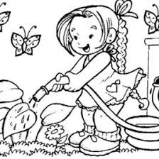 Flower Coloring Pages For Kids 16603 Nest