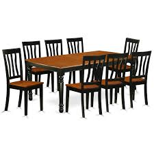East West Furniture DOAN9-BCH-W 9 PC Kitchen Tables And Chair Set ... 90 Off Bernhardt Embassy Row Cherry Carved Wood Ding Darby Home Co Beesley 9 Piece Buttmilkcherry Set 12 Seater Cherrywood Table And Chairs Christophe Living Fniture Of America Brennan 5piece Round Brown Natural Design Ideas Solid Room House Craft Expandable Art Deco With Twelve 5 Wayfair Wood Ding Set In Ol10 Rochdale For 19900 Sale Shpock Regular Height 30 Inch High Table Black Kitchen Sets For 6 Aspenhome Cambridge 7pc Counter Leg