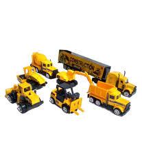 Emob Mini Die Cast Metal 7 Pcs Engineering Construction Vehicle ...