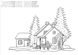 Coloriage Dun Paysage De Noël à Imprimer Et Colorier
