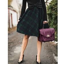 tartan a line midi skirt retro indie and unique fashion