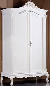 casa padrino luxus barock schlafzimmerschrank weiß gold 115 x 62 x h 218 cm edler massivholz kleiderschrank mit 2 türen schlafzimmer möbel im