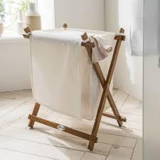 wäschesammler trixy teakholz 42 x 32 x 46 cm wäschekorb badezimmer