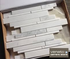 carrara venato honed random brick marble mosaic tile the builder
