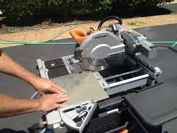 Ridgid 7in Tile Saw With Laser by Ridgid 10