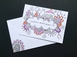 Birthday Card Drawing Ideas 25 Best Ideas About Hand Drawn Cards Pinterest