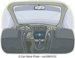 intérieur voiture afficher illustration clipart vectorisé