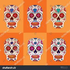 Easy Sugar Skull Day Of by Day Dead Sugar Skulls Set Mexican Stock Vector 332631788