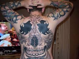 Metal Gothic Full Body Tattoo On Back And Hands Pictures