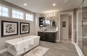 master bathroom with high ceiling flat panel cabinets zillow