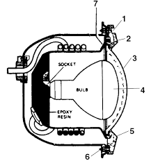 hayward astrolite pool light replacement part schematic