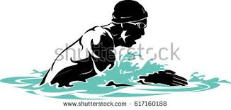 Breast Stroke Male Swimmer Stock Vector Shutterstock
