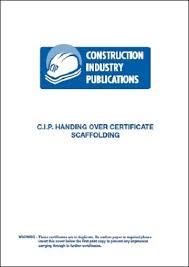 Scaffolding Handing Over Certificates