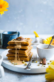 Paleo Pumpkin Cheesecake Snickerdoodles by Paleo Waffles With Pumpkin Spice Cream Sauce Food Faith Fitness