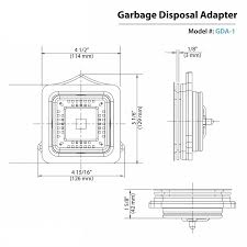Sink Disposal Leaking From Side by Amazon Com Kraus Pax Garbage Disposal Adapter Gda 1 Home