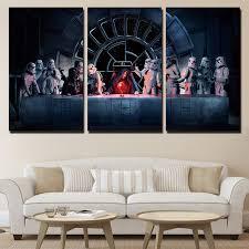 Modular Moda Pintura De La Lona Wall Art Pictures Home Room Decor 3 Unidades Star Wars