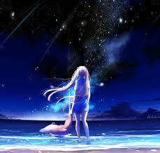 100 Starfall 3 Download 2248x2248 Wallpaper Anime Girl Outdoor Night