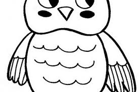 Cartoon Owl Coloring Pages Print Baby